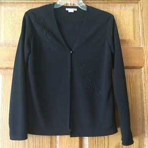 Simple and Elegant Notations Faux Jacket Top Small